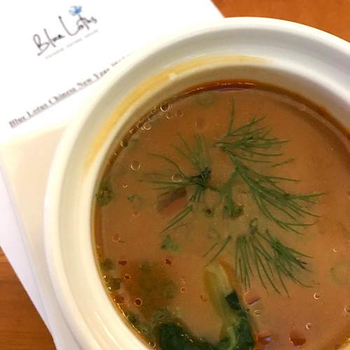 Truffle Wonton Lobster Bisque - Blue Lotus CNY 2017 Menu