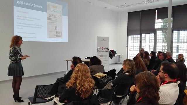 Presentación del periódico La Semana en los desayunos del Club Tixe