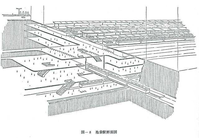 上越新幹線と池袋駅 (8)