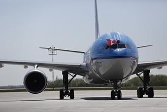 KLM A330-200 Inaugural Edmonton (KLM)