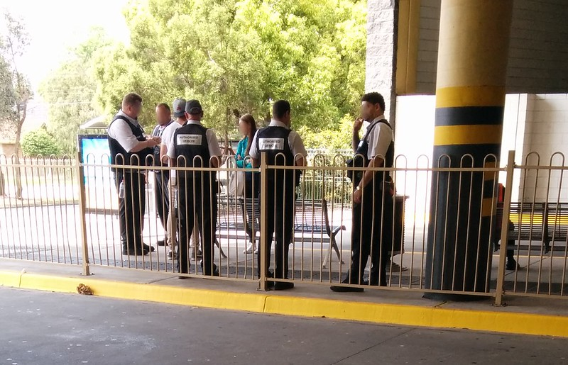 Authorised Officers at a bus stop