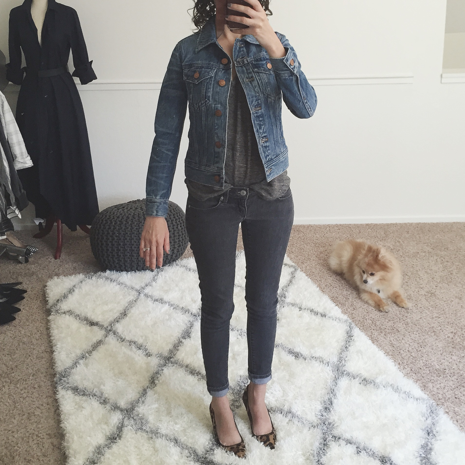 Review J.Crew Denim Jacket Tyler Wash xxxs petite