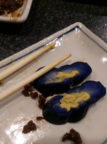 blue pickled eggplant