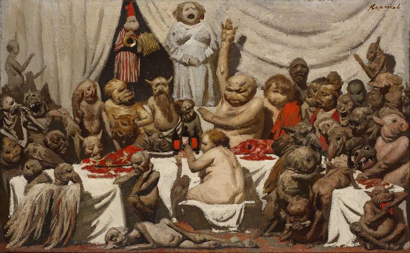 Geli Korzhev - Feast, 1987