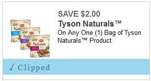 Tyson Naturals Coupon