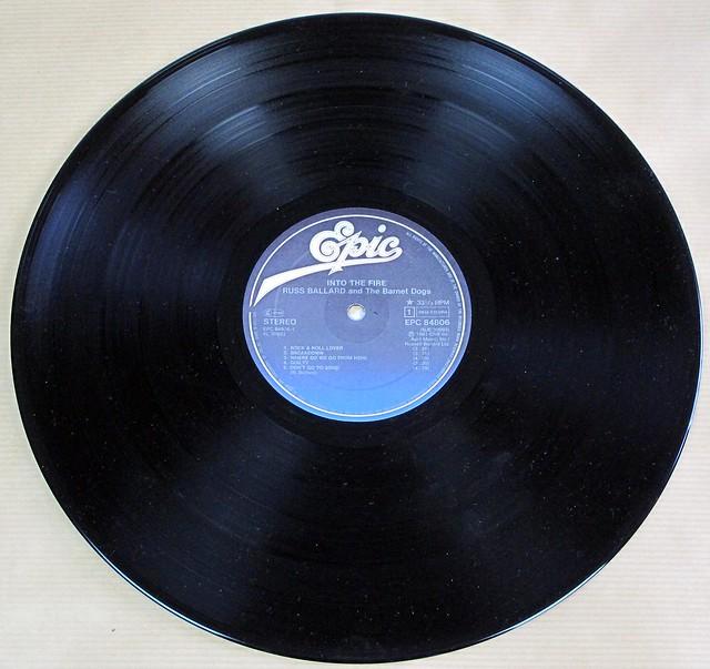 """RUSS BALLARD & BARNET DOGS INTO THE FIRE 12"""" LP VINYL"""