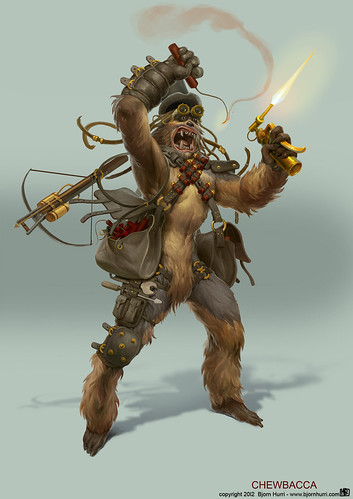 Steampunk Star Wars by Bjorn Hurri - Chewbacca