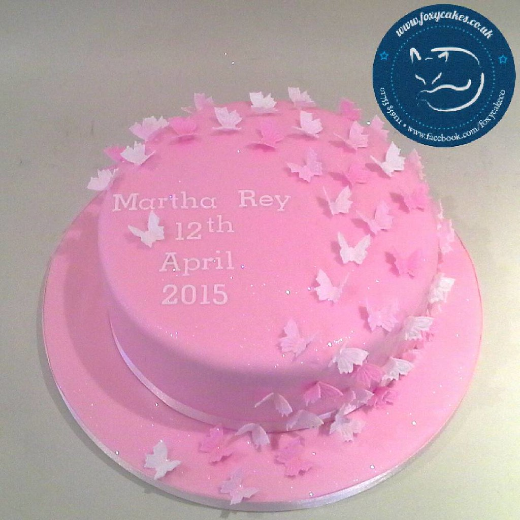 Cake Design In Charlwood : Beautiful butterfly decorated cake! #cake #eton #windsor ...