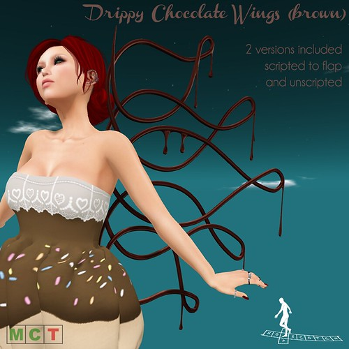 Drippy Chocolate Wings Brown