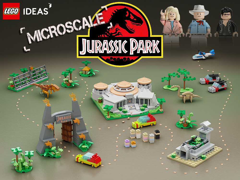 Lego ideas micro jurassic park please vote on lego - Jurasic park lego ...