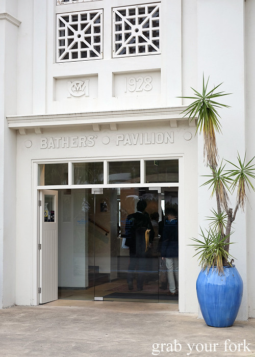 Entrance to Bathers' Pavilion in Balmoral Sydney