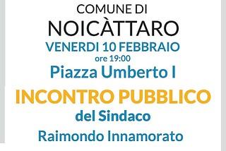 Noicattaro. Incontro pubblico con il sindaco front