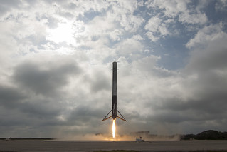 Falcon 9 first stage lands on LZ-1 | by Official SpaceX Photos