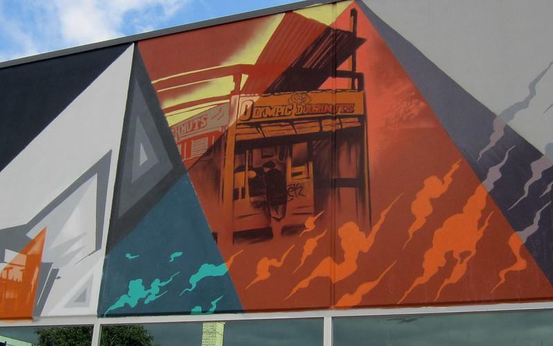Olympic Doughnuts, mural, Footscray, June 2015