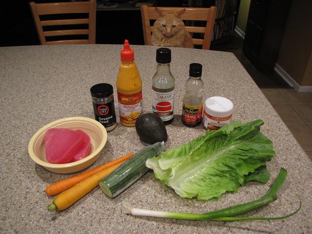 Poke Tuna Bowl Ingredients