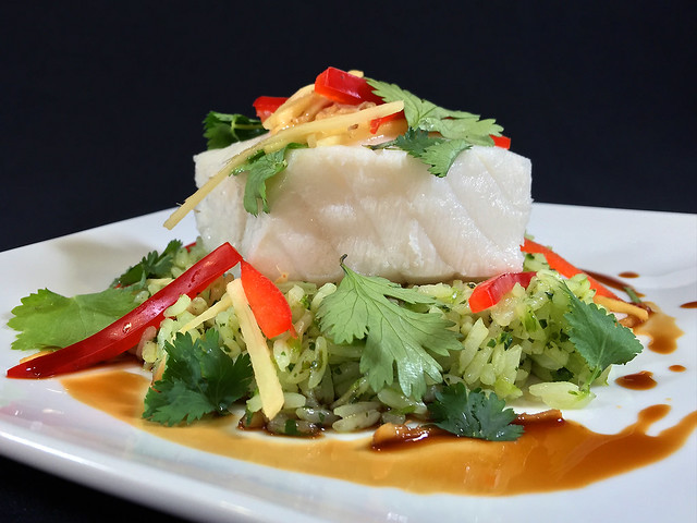 Steamed Sea Bass (transcontinental 1st class)