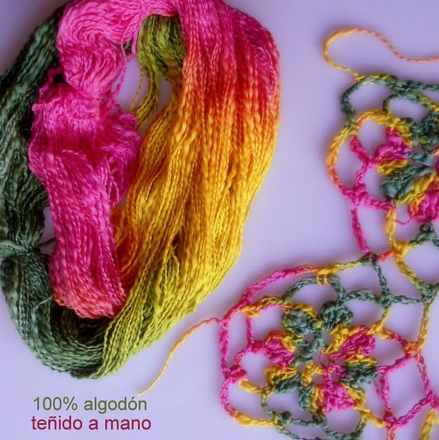 Algodón teñido artesanalmente
