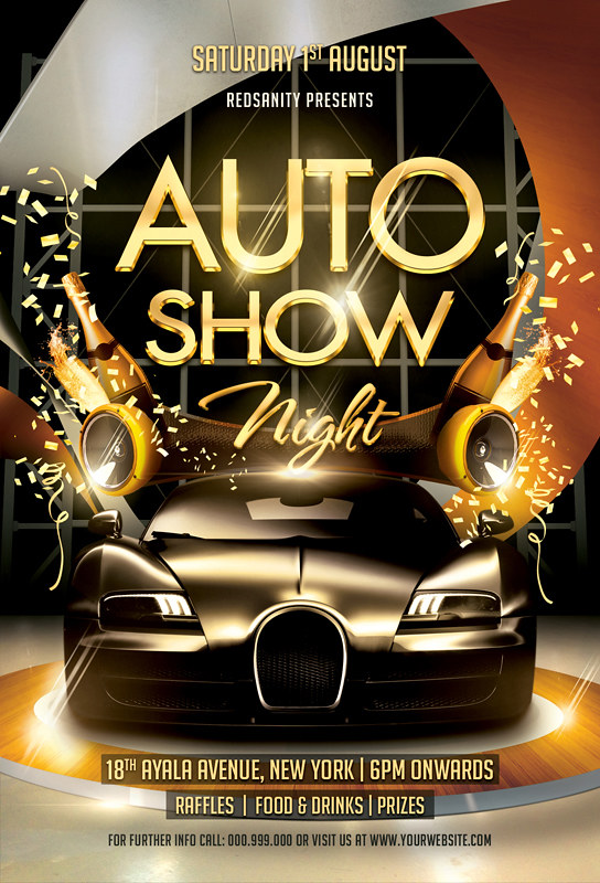 Auto Show Night Flyer Template Download The Photoshop File Flickr