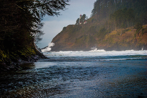 Heceta Head Lighthouse from the Beach