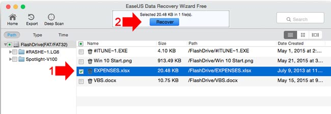 How to recover deleted files on Mac step 5