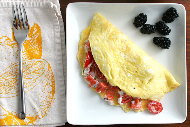 lox goat cheese omelets 3