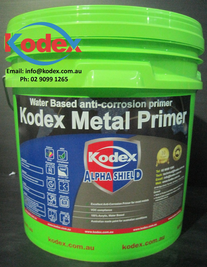kodex metal primer with our water based 100 acrylic. Black Bedroom Furniture Sets. Home Design Ideas