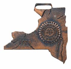 1928 New York shaped American Legion badge