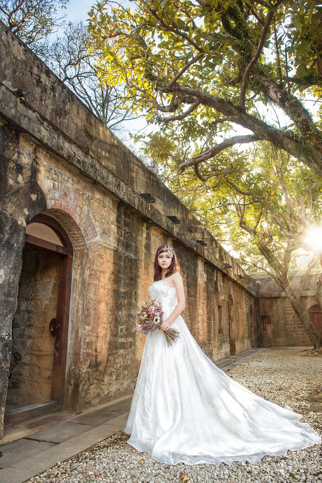 淡水婚紗景點,滬尾砲台婚紗,夕陽婚紗,逆光婚紗,古蹟婚紗