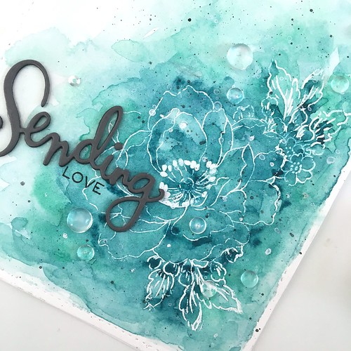Sending love floral watercolor