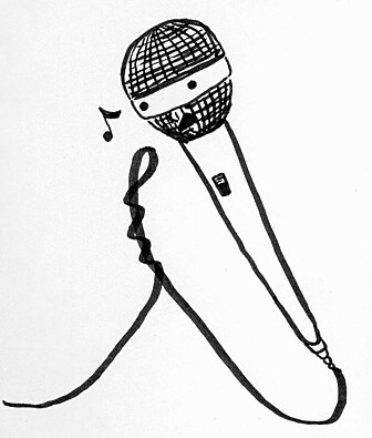 "Singing microphone | For Illustration Friday's ""Song"" theme.… 