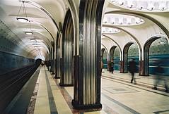 Majakovskaja metrostation in Moskou...