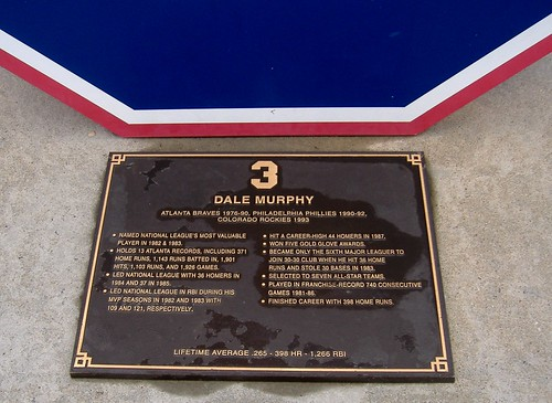 Dale Murphy plaque at Turner Field | by Veee Man