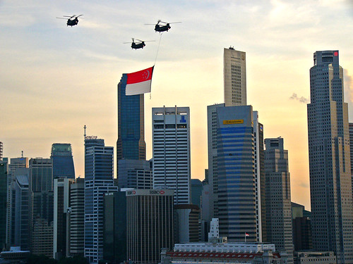 Singapore flag fly past | by yannie