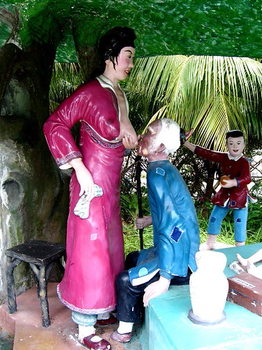 Filial piety means nursing your father-in-law, Haw Par Villa (Tiger Balm Theme Park), Singapore | by gruntzooki