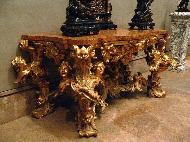Roman baroque side table 18th century 1 photographed at for French rococo period