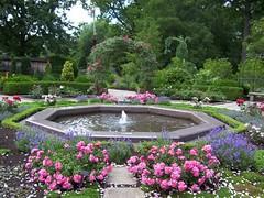 Cleveland Botanical Garden Fountain In The Rose Garden Wa Flickr