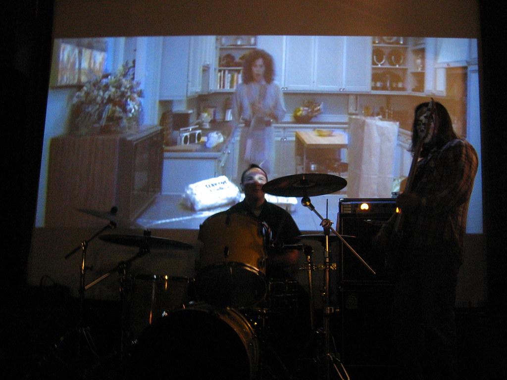 erik and marty raincity studios party at video monster robert scales flickr. Black Bedroom Furniture Sets. Home Design Ideas