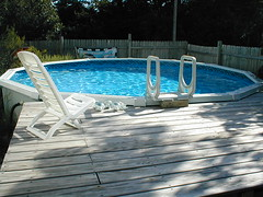 18 ft above ground pool with deck~ | by Shecreed }{