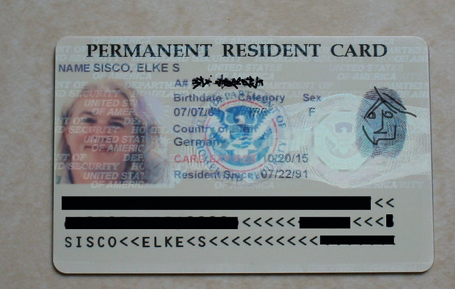 After | My new green card. Which is white, and calls me a PE ...