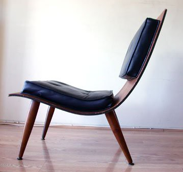... Bent Plywood Lounge Chair (side) | By Stewf