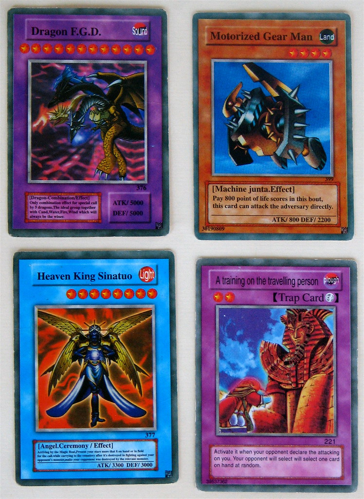 fake yu-gi-oh! cards from my son's card collection. | flickr
