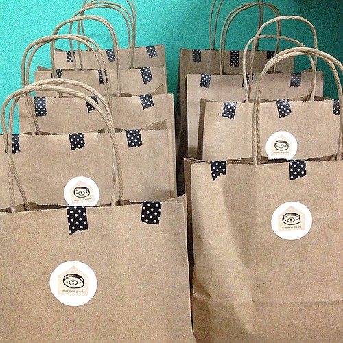 Grab bags! All ready for today's First Saturday @ Western Avenue Studios! #migrationgoods #packaging