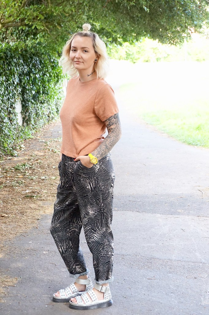 kate-louse katethisiswhatido palm print joggers