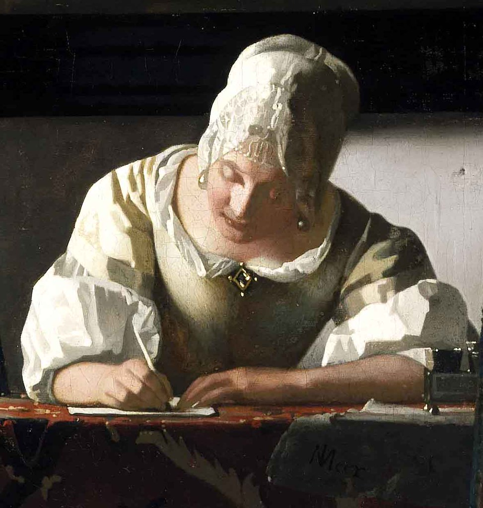Jan Vermeer Briefschreiberin und Dienstmagd Lady Writing…