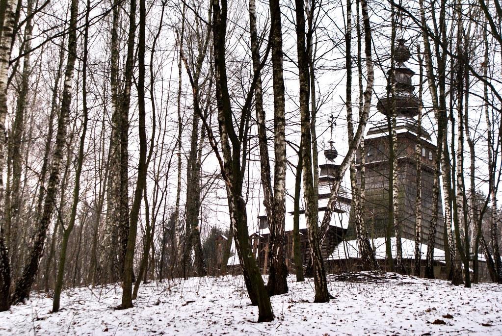 Reproduction à Lviv de l'église Lemko d'Owczara en Pologne.