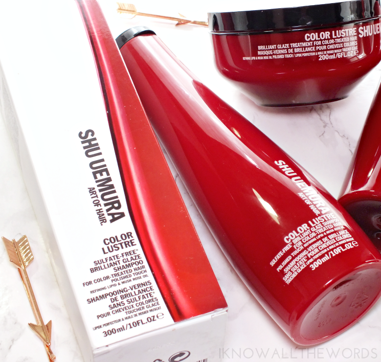 shu uemura art of hair colour lustre brilliant glaze shampoo