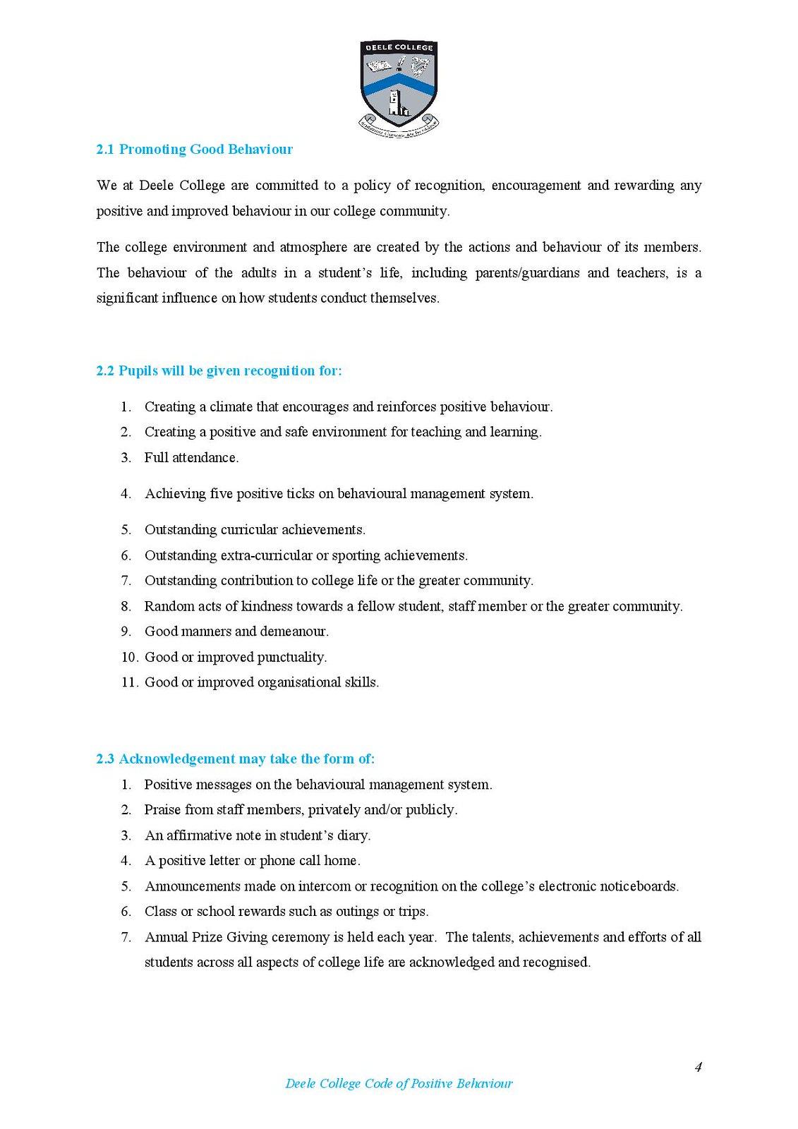 Deele College Code of Positive Behaviour Booklet 2016-page-004