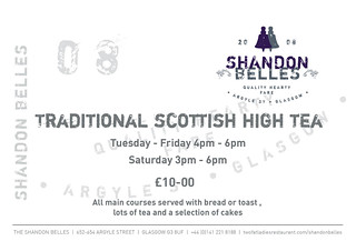 Shandon Belles High Tea Flyer front