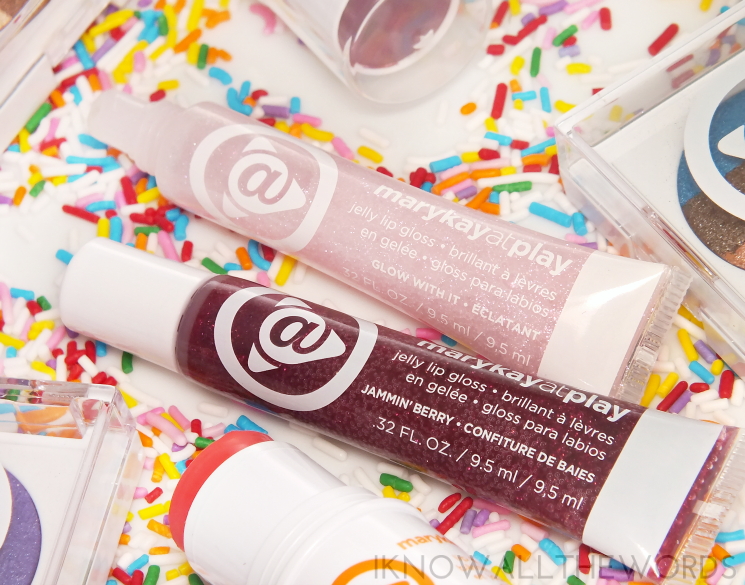 mary kay at play 2015 jelly lip gloss in glow with it and jammin' berry (1)