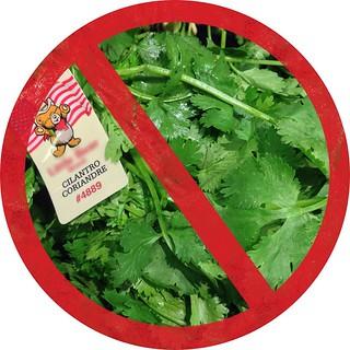 No cilantro!